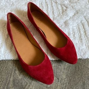 Made well 1937 Red Point Toe Suede Flats